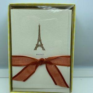 Eiffel Tower merci thank you cards